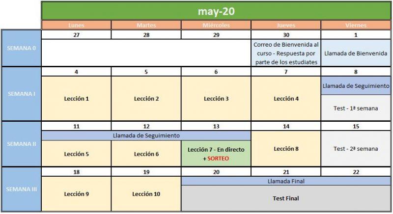 ASOApp Curso Apps Calendario Mayo 2020